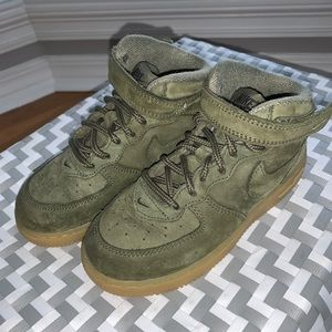 10C Toddler Olive Nike High Top Air Force Ones